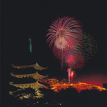 あをによし奈良の夜空を真っ赤に染める!古都の新年を飾る若草山焼き鑑賞